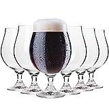 Krosno Bicchieri Calice Birra Scura Vetro 0,5 Litri | Set di 6 | 500 ML |...