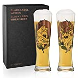 Ritzenhoff Tobias Tietchen - Set di 3 bicchieri da birra in cristallo (Stag &...