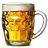 bar@drinkstuff The Great British Pint dimple mug – Set di 4 boccali di vetro...