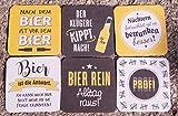 G.Artigianato - Set di 12 sottobicchieri da birra Memo – Gioco 9,2 x 9,2 x 1...