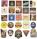Pub paraphenalia tradizionale Beer Mats, Multicolore, confezione da 25