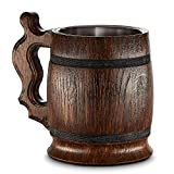 Boccale da birra in legno - in quercia - fatto a mano con sorprendente maestria...